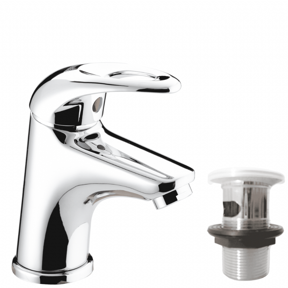 Bristan Mini Basin Mixer In Chrome With Pop Up Waste - Model J SMBAS C